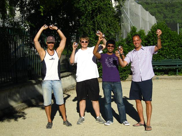 Petanque with the quantum crew: Paris, July  2012