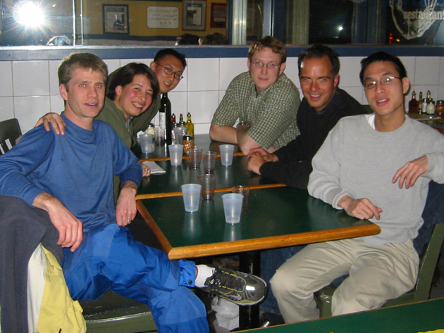 Early days: At the Catch, Summer 2002